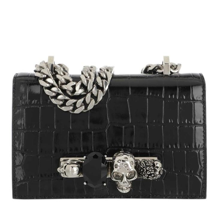 Handtasche, Alexander McQueen, Jewelled Mini Crossbody Bag Black