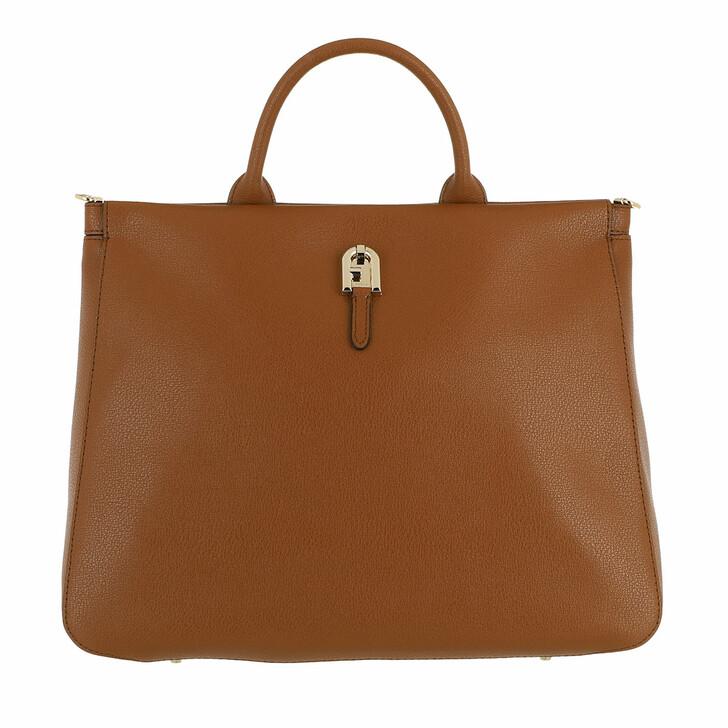 bags, Furla, Furla Palazzo L Tote Cognac H
