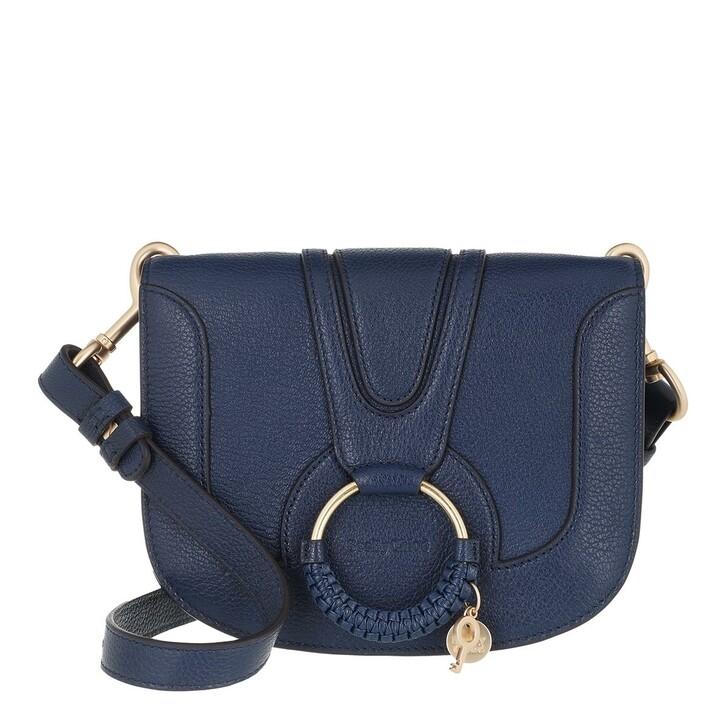 bags, See By Chloé, Hana Medium Crossbody Bag Leather Royal Blue