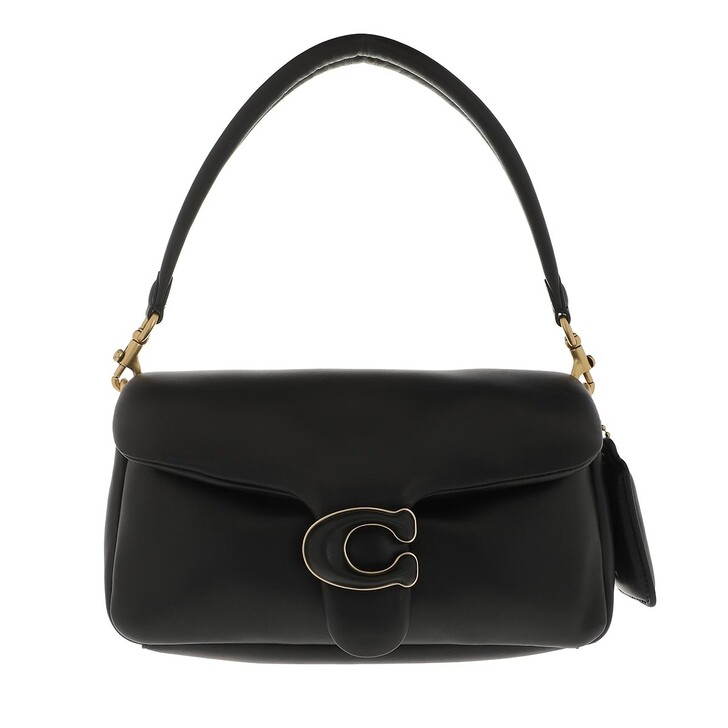 Handtasche, Coach, Leather Covered C Closure Pillow Tabby Shoulder Ba B4/Black