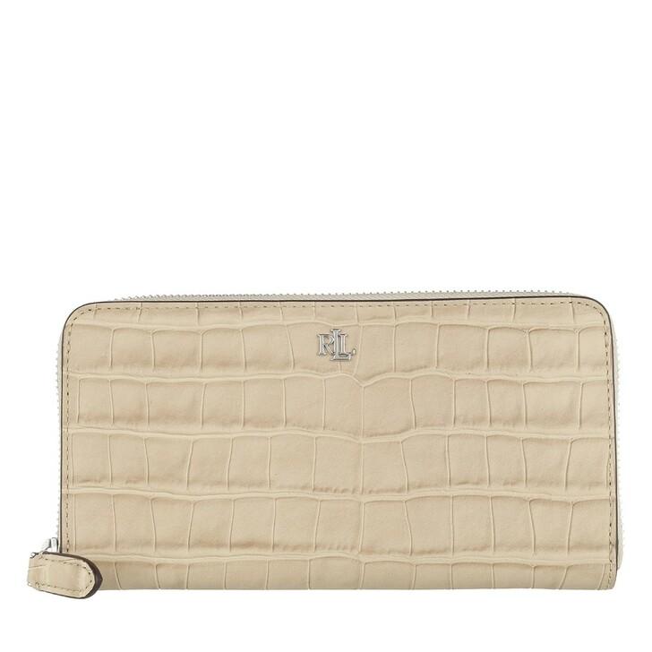 wallets, Lauren Ralph Lauren, Zip Cont Wlt Wallet Large Dune Tan