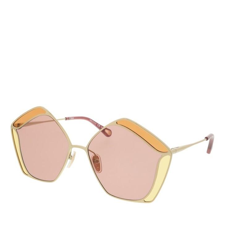Sonnenbrille, Chloé, Sunglass WOMAN METAL GOLD-GOLD-RED