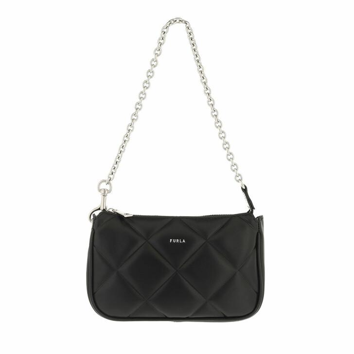 bags, Furla, Furla Moon Mini Shoulder Bag Nero