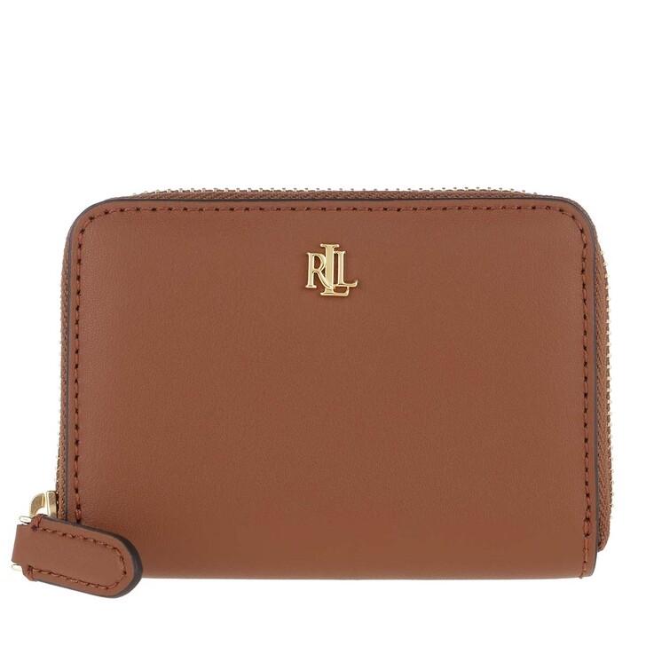Geldbörse, Lauren Ralph Lauren, Small Zip Wallet Small Lauren Tan/Monarch Orange