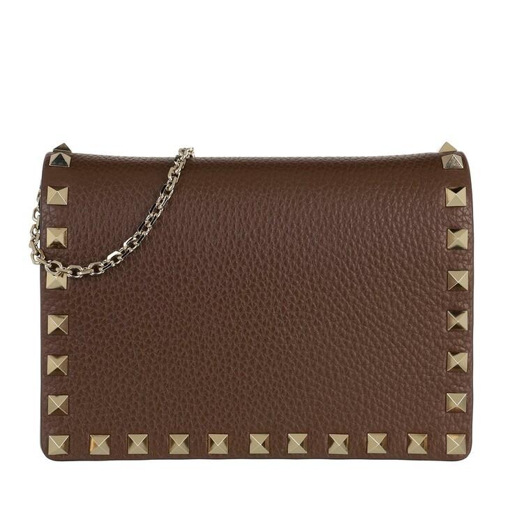 Handtasche, Valentino, Rockstud Crossbody Bag Deep Taupe