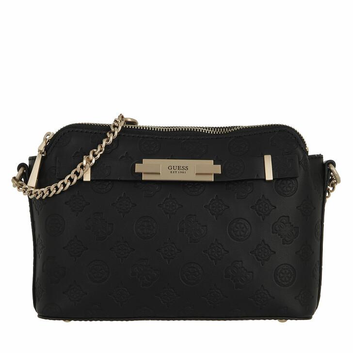 bags, Guess, Bea Double Zip Crossbody Black