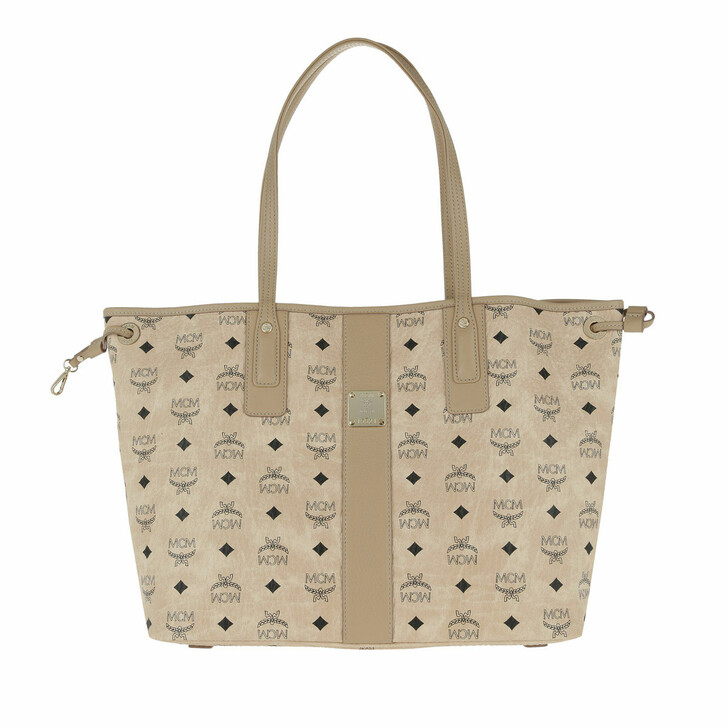 bags, MCM, Project Visetos Reversible Shopper Medium Beige