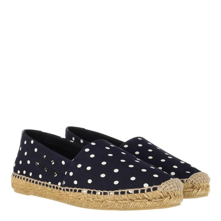 Schuh, Saint Laurent, Logo Espadrilles Navy Cream Black