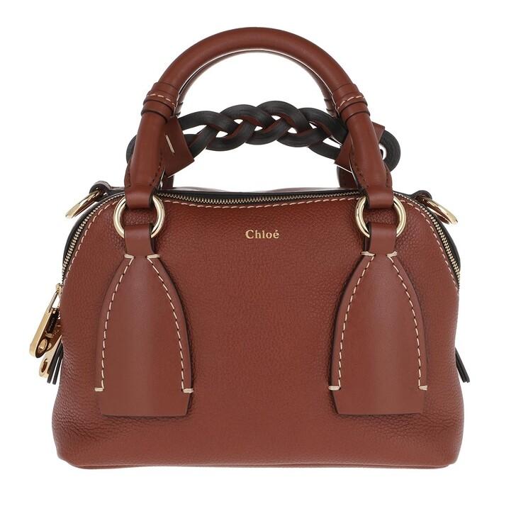 bags, Chloé, Daria Shoulder Bag Small Sepia Brown