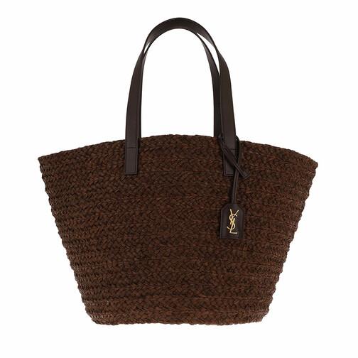 saint laurent -  Shopper - Medium Panier Bag Raffia - in braun - für Damen