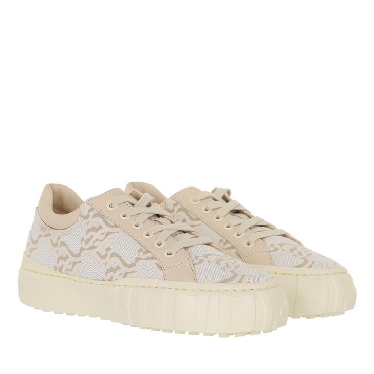 shoes, Fendi, Force Sneakers Jacquard Beige/White