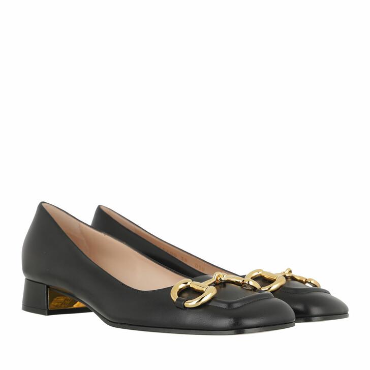 Schuh, Gucci, Horsebit Ballet Flat Black
