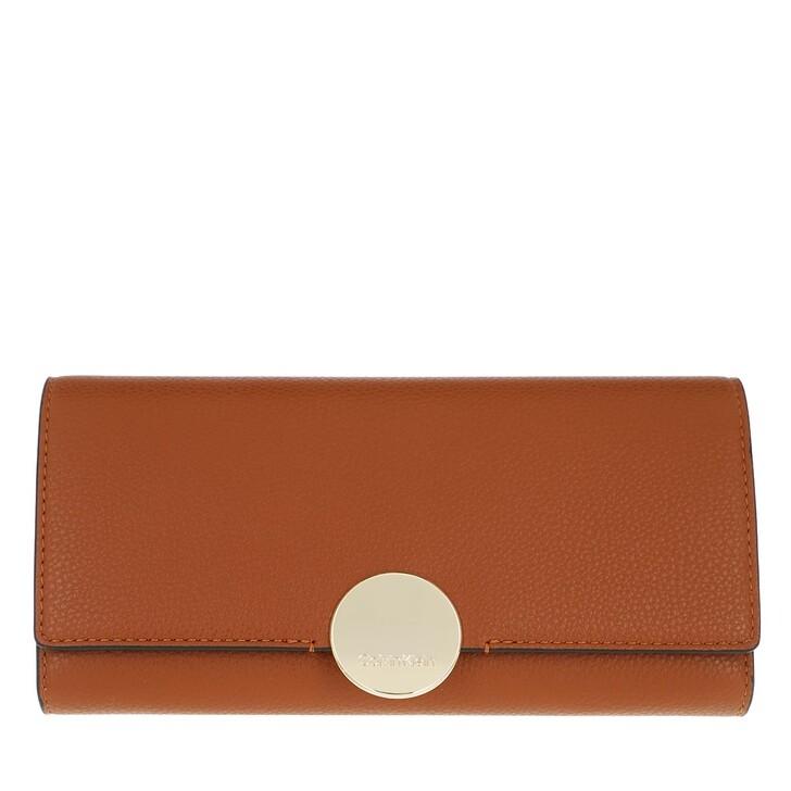wallets, Calvin Klein, CK Luxe Trifold Large Caramel