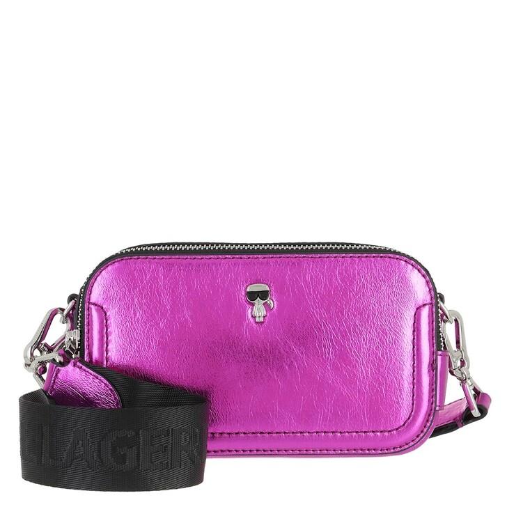 Handtasche, Karl Lagerfeld, K/Ikonik 3d Pin Camera Bag Metallic