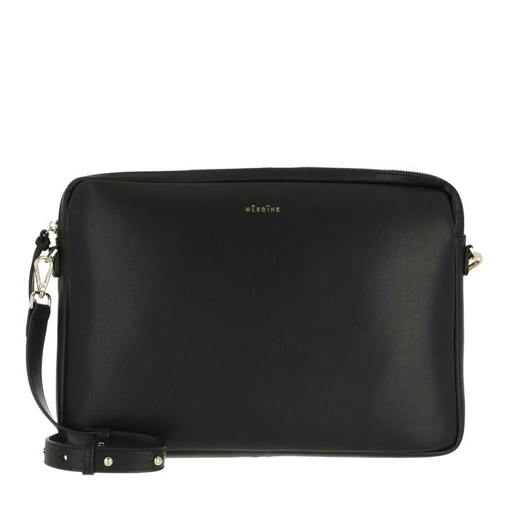 "Handtasche, Maison Hēroïne, Jamie 15"" Laptop Bag Black"