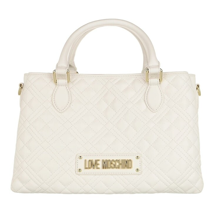 bags, Love Moschino, Borsa Quilted Nappa Pu  Bianco