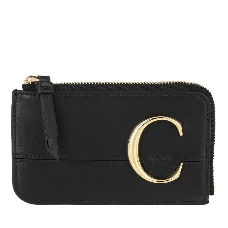 Geldbörse, Chloé, C Small Purse Black