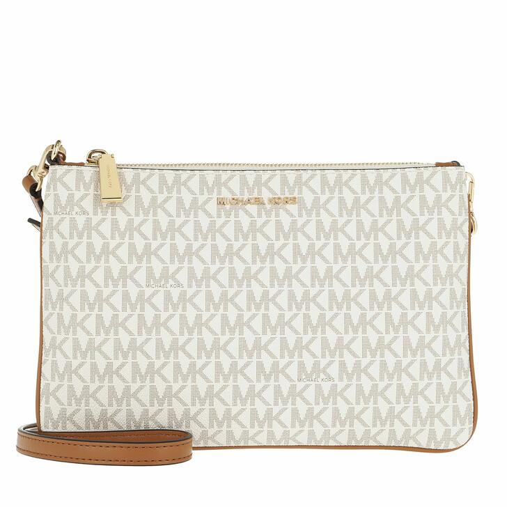 Handtasche, MICHAEL Michael Kors, Large Double Pouchette Crossbody Bag Vanilla