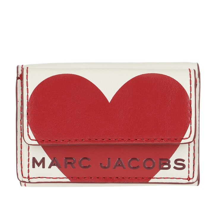 Geldbörse, Marc Jacobs, The Heart Box Fold Over Wallet Leather Cotton
