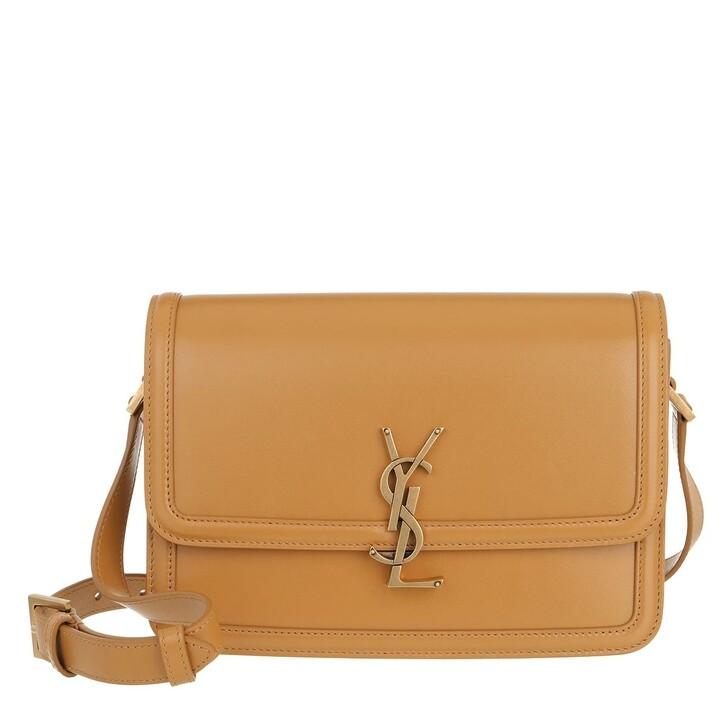 Handtasche, Saint Laurent, Medium Messenger Lock Bag Ultracalf Soft Yellow