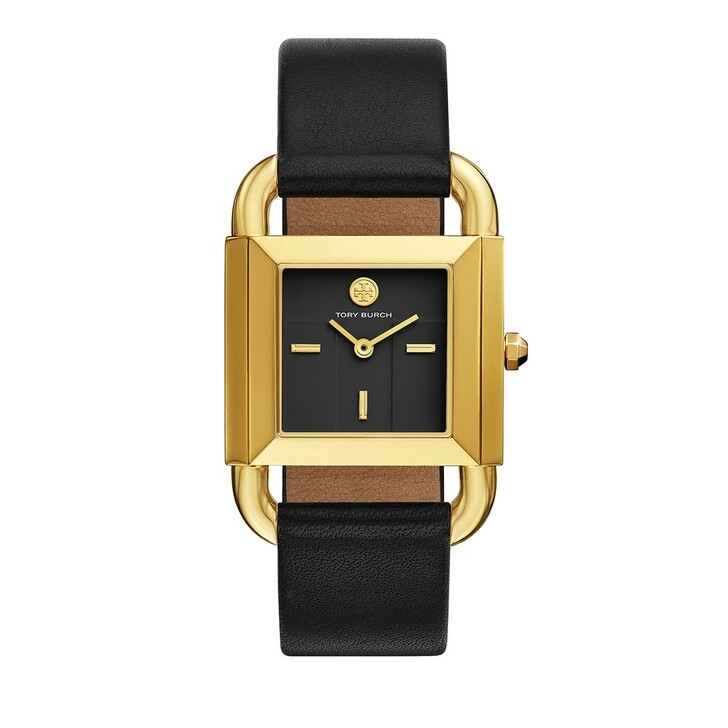 watches, Tory Burch, The Phipps Leather Two-Hand Watch Black