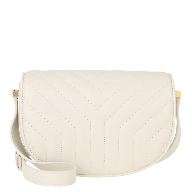 bags, Saint Laurent, Joan Shoulder Bag Leather Crema Soft