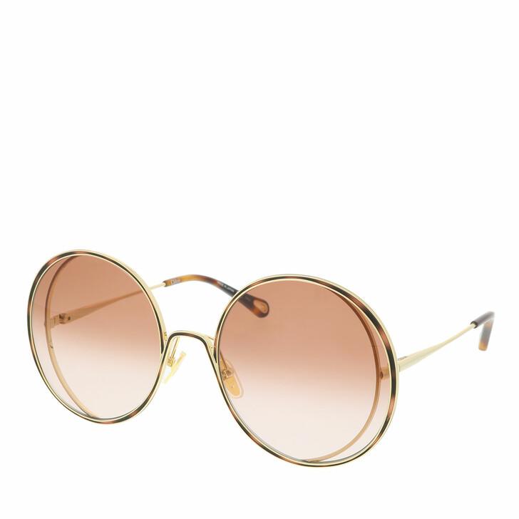 Sonnenbrille, Chloé, Sunglass WOMAN METAL GOLD-GOLD-ORANGE