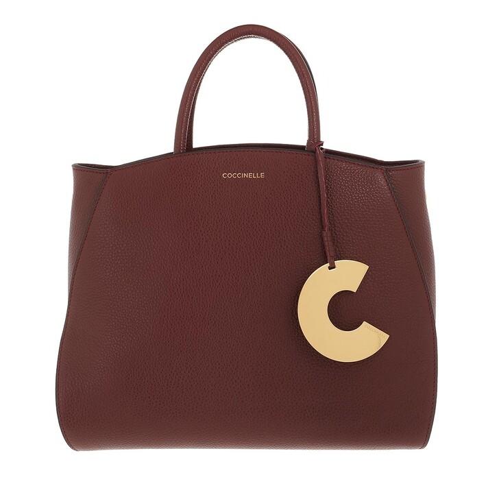 bags, Coccinelle, Concrete Handbag Grainy Leather  Marsala