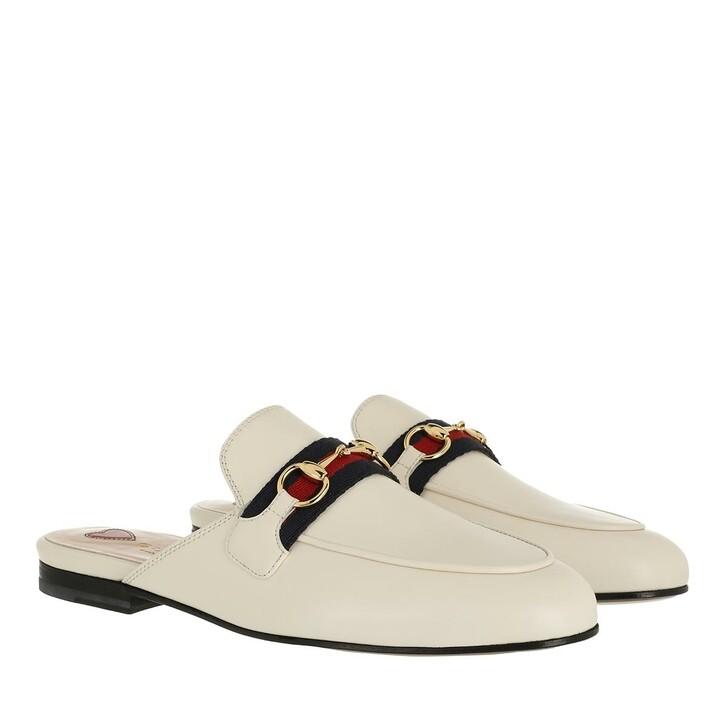 Schuh, Gucci, Princetown Slipper Leather Mystic White