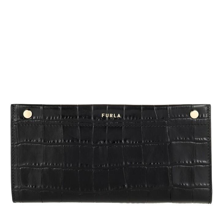 wallets, Furla, Medium Continental Wallet Nero