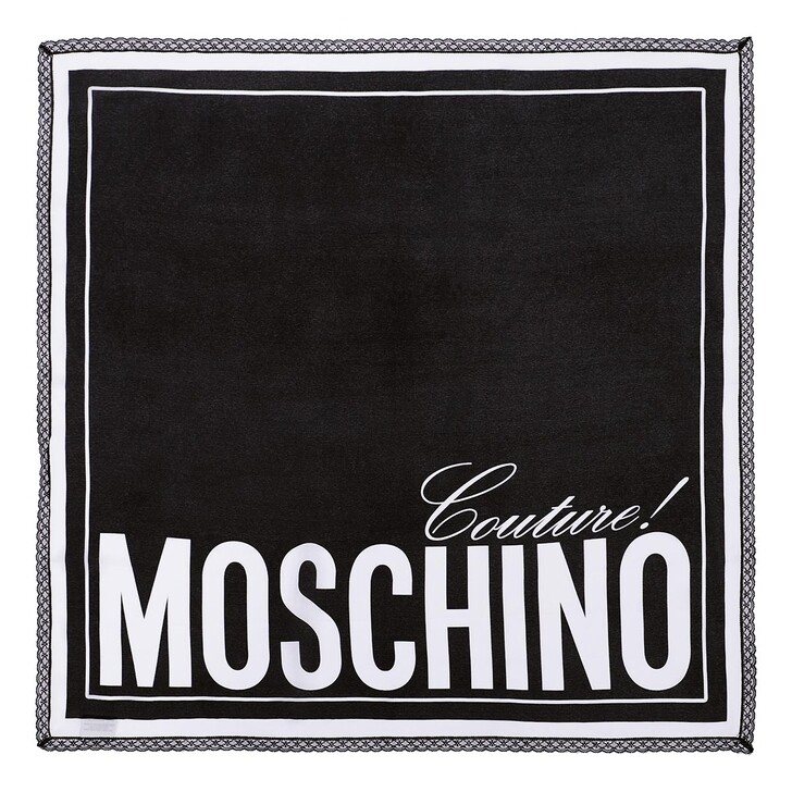 scarves, Moschino, Foulard Black
