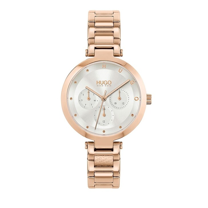 Uhr, Hugo, multifunctional watch Rose Gold