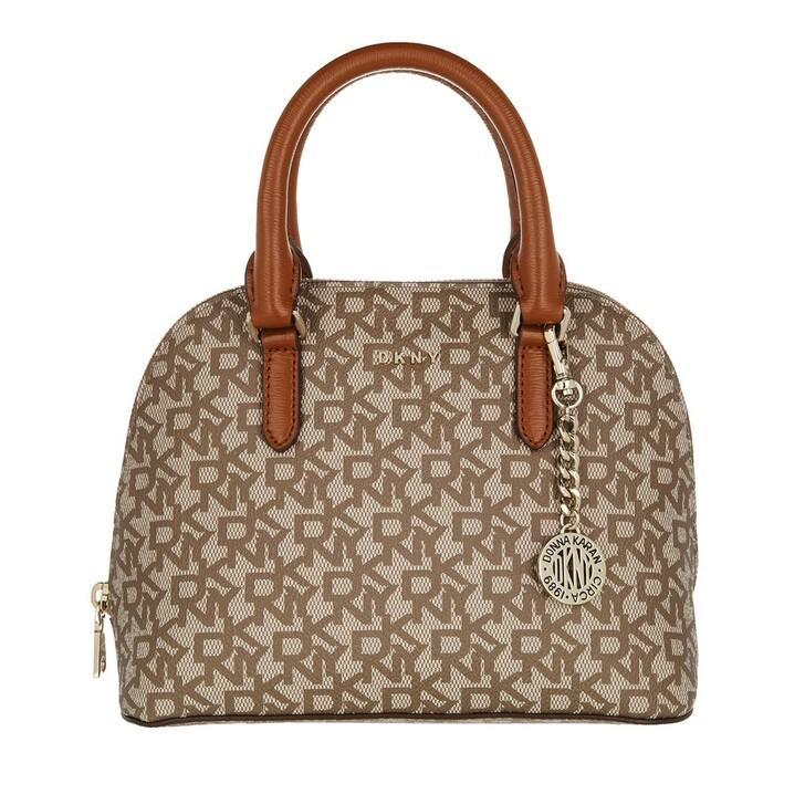 Handtasche, DKNY, Bryant Dome Satchel Chino Caramel