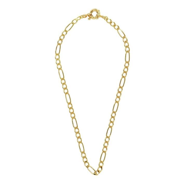 Kette, LLR Studios, Big Figaro X Ring 40cm Necklace Gold