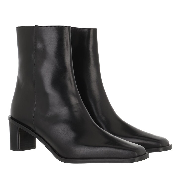 shoes, ATP Atelier, Torina Mid Heel Boot Vachetta Black