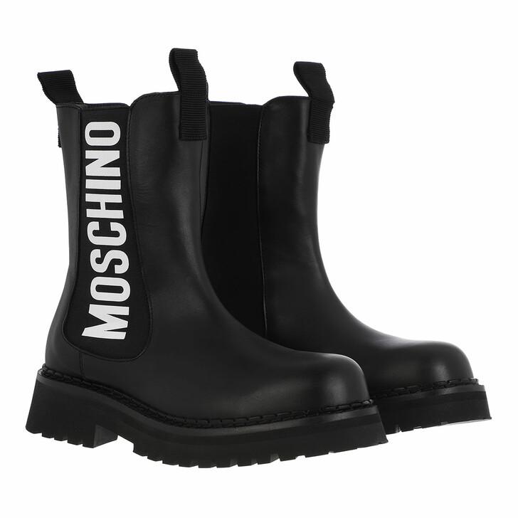 shoes, Moschino, St Ttod Montagna50 Vitello  Nero