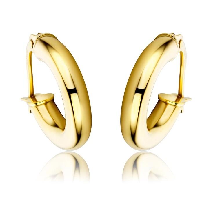 earrings, DIAMADA, 14KT Creole Earring Yellow Gold