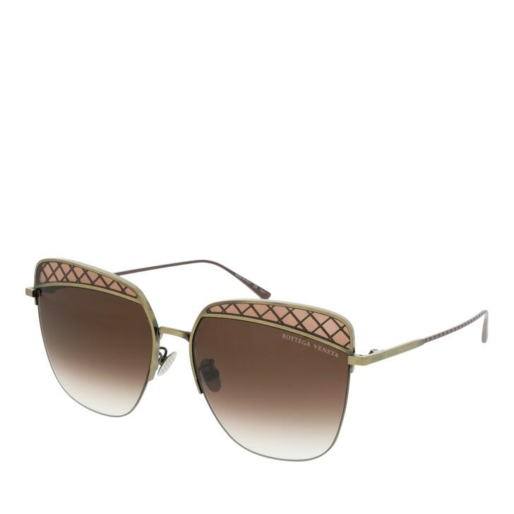 Sonnenbrille, Bottega Veneta, BV0250S-002 59 Sunglass WOMAN METAL GOLD