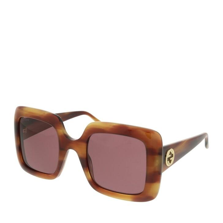 Sonnenbrille, Gucci, GG0896S-004 52 Sunglass WOMAN ACETATE HAVANA