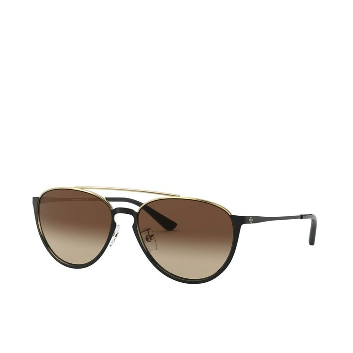 Sonnenbrille, Tory Burch, Woman Sunglasses Metal Shiny Black Metal