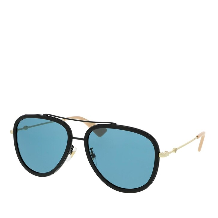 Sonnenbrille, Gucci, GG0062S-017 57 Sunglass WOMAN METAL BLACK