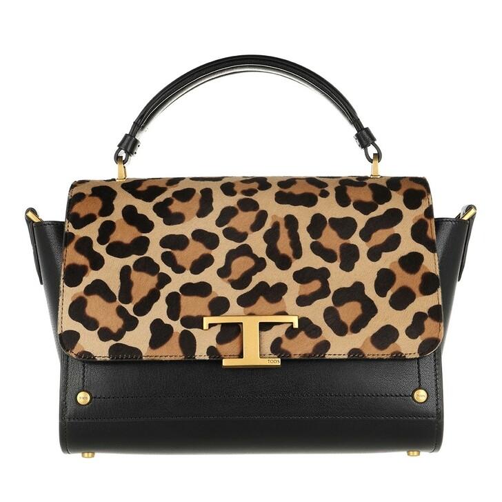 Handtasche, Tod's, Small Crossbody Bag Leather Black/Leo