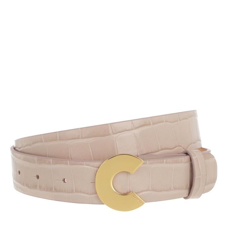"Gürtel, Coccinelle, Logo ""C"" Croco Shiny Soft Belt Powder Pink"