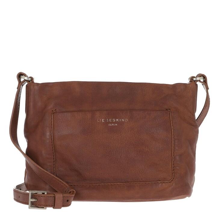bags, Liebeskind Berlin, Vegetable Vintage Crossbody Bag Medium Brown