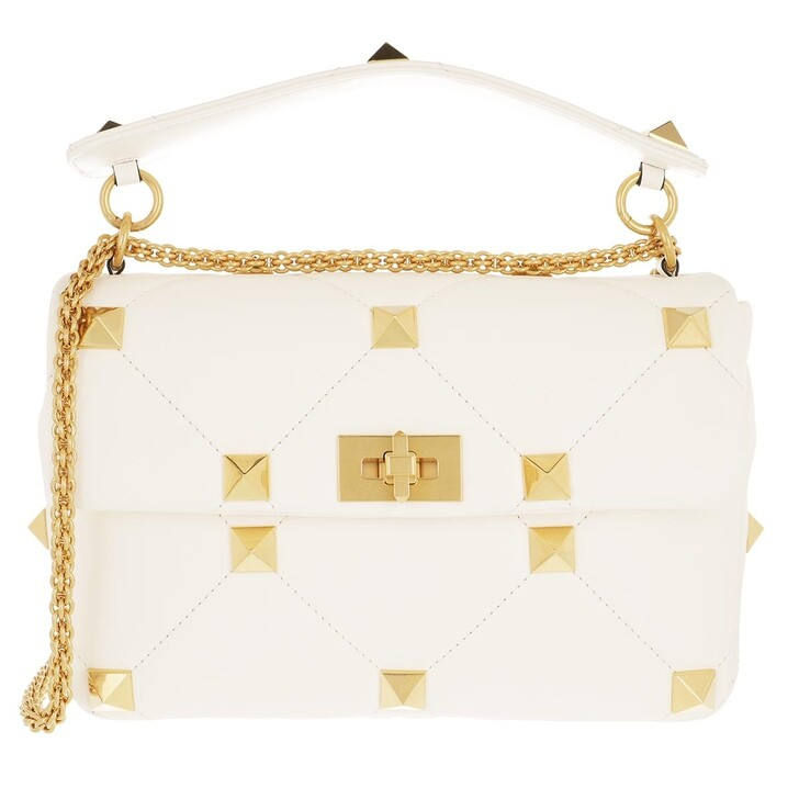Handtasche, Valentino Garavani, Shoulder Bag Leather Ivory