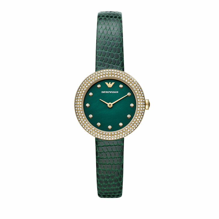 watches, Emporio Armani, Women's Two-Hand Stainless Steel Watch, AR11419 Gold Green