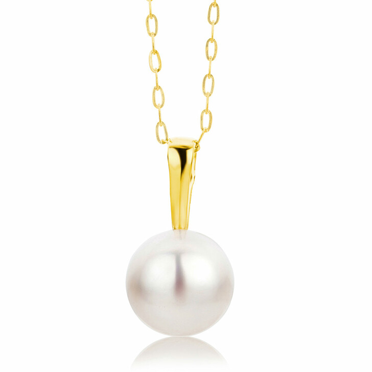 necklaces, BELORO, 9KT Necklace Freshwater-Cultured Pearl Yellow Gold