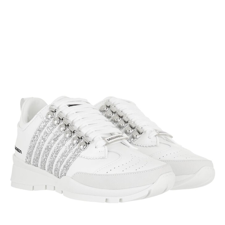 shoes, Dsquared2, Side Stripe Sneakers White/Silver