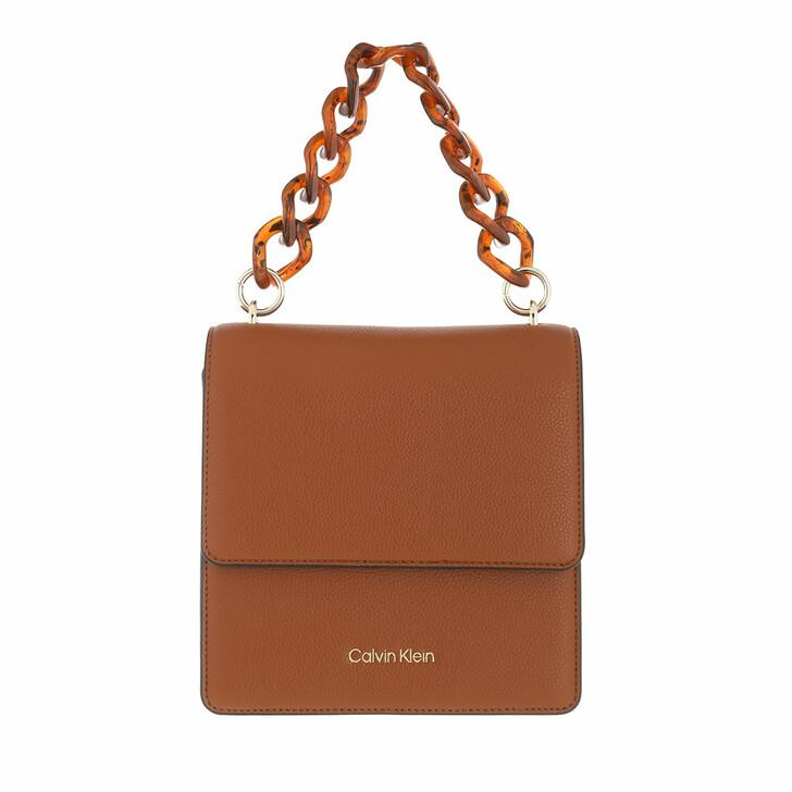 bags, Calvin Klein, Calvin Chain Shoulder Bag Mix Caramel/Taupe/Sulfur
