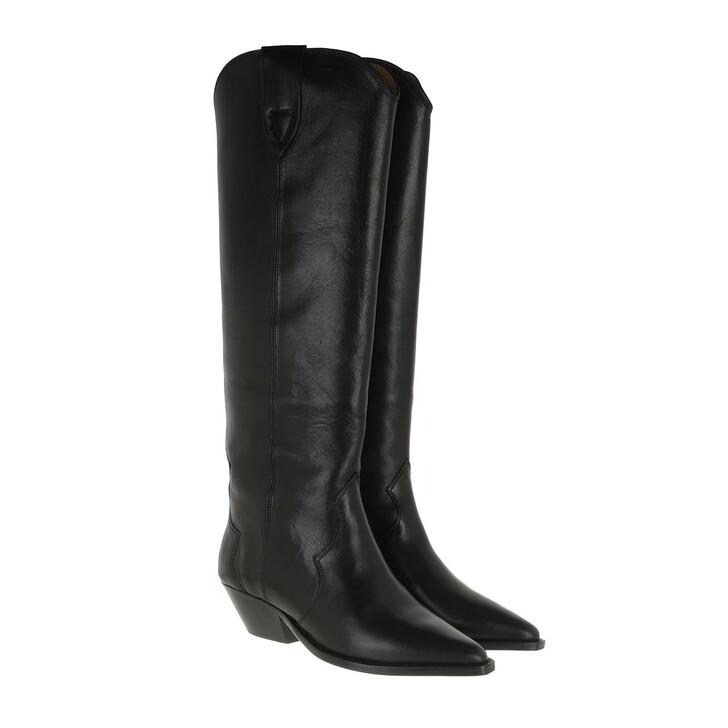 Schuh, Isabel Marant, Dewina High Texas Boots Leather Black